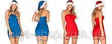 Костюм снегурочки игровой эротический сексуальный новогодний белье Obsessive Kissmas chemise