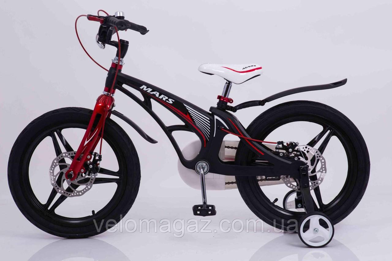 """Детский велосипед SIGMA MARS-18"""", дисковые тормоза, корзинка"""