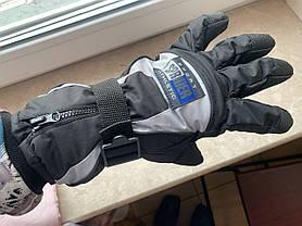 Тёплые рукавицы Thinsulate на мото вело горнолыжные сноуборд Перчатки на меху влагостойкие, фото 3