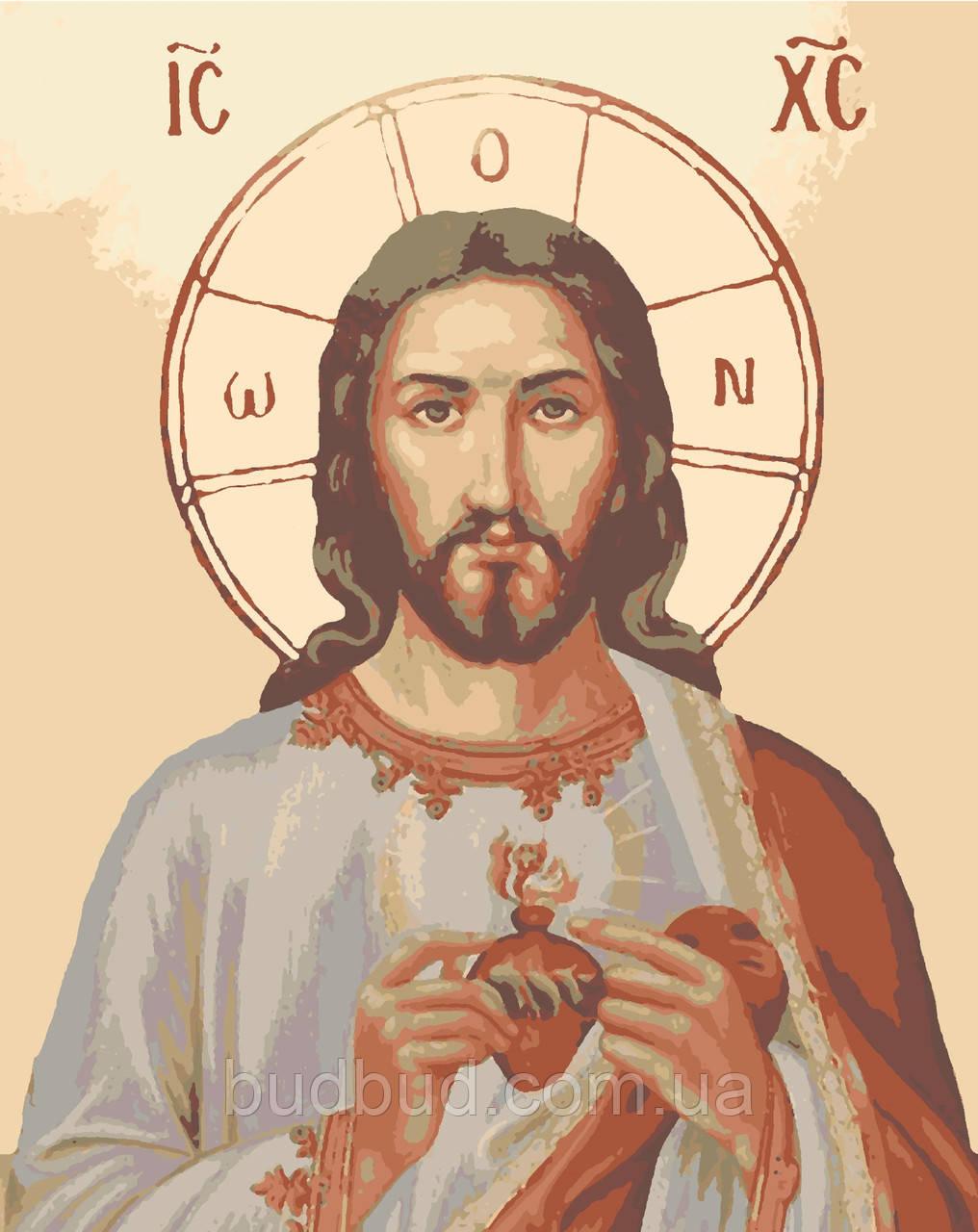 "Картина по номерам ""Иисус в сердце"" 40х50 1 шт."