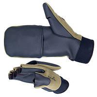 Перчатки-варежки Norfin ASTRO ветрозащитные отстегивающиеся