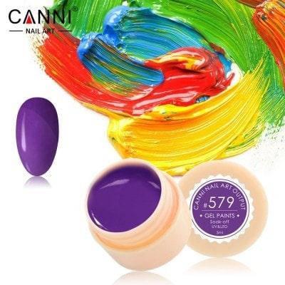 Гель-краска Canni 579 фиолетовая, фото 2