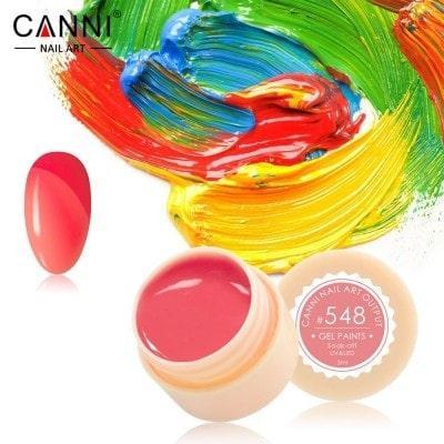 Гель-краска Canni 548 пастельная кораллово-розовая.