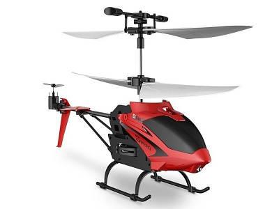 Летающий вертолет Induction aircraft с сенсорным управлением 8088 Красный 183970