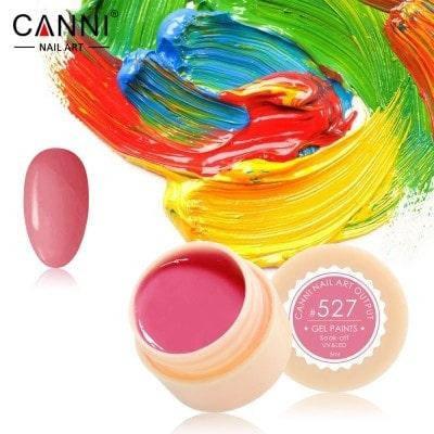 Гель-краска Canni 527 пастельная коралловая., фото 2