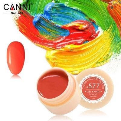 Гель-краска Canni 577 ярко-красная, неоновая., фото 2
