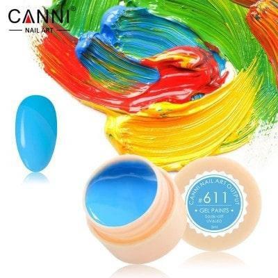 Гель-краска Canni 611 темно-голубая, фото 2