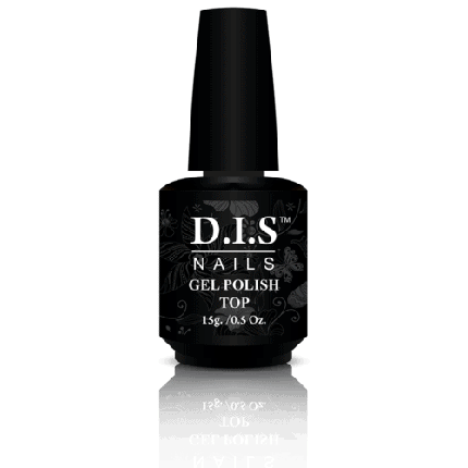 Верхнее покрытие для гель-лака DIS nails gel polish top с липким слоем 15 г, фото 2