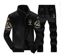 Мужской спортивный костюм черный. (Ч1216)
