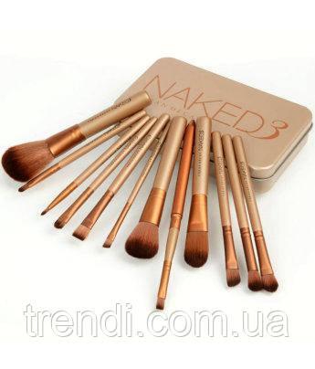 Кисті для макіяжу Naked3 12 шт