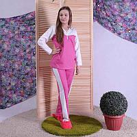 Пижама теплая женская с начесом розовая 44-60 р., фото 1