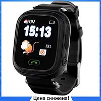 Детские Умные часы с GPS Smart baby watch Q90 черные - Детские смарт часы-телефон с трекером и кнопкой SOS