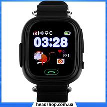 Детские Умные часы с GPS Smart baby watch Q90 черные - Детские смарт часы-телефон с трекером и кнопкой SOS, фото 2
