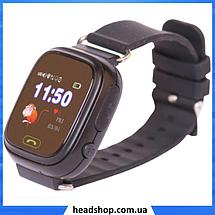 Детские Умные часы с GPS Smart baby watch Q90 черные - Детские смарт часы-телефон с трекером и кнопкой SOS, фото 3