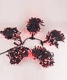 Гирлянда Клип-лайт 100 м,  черный ПВХ, IP44, красный, фото 3