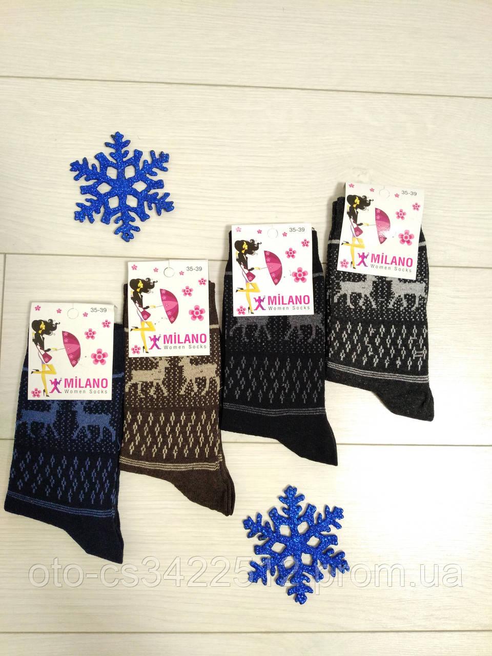 """Шкарпетки жіночі тонкі з принтом """"Milano"""""""