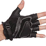 Перчатки спортивные многоцелевые BC-169 (кожа), фото 5