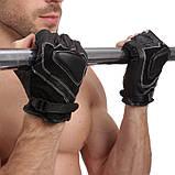 Перчатки спортивные многоцелевые BC-169 (кожа), фото 3