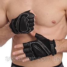 Рукавички спортивні багатоцільові BC-169 (шкіра)