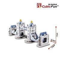 Тривимірна головоломка-конструктор 3d пазл серія міні cubicfun Тауерський міст (S3010h), фото 2