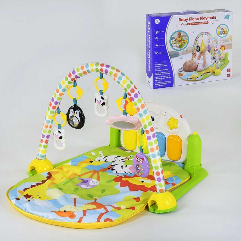 Детский коврик YL - 605 музыкальный, 5 подвесок