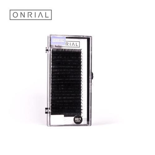 Ресницы ONRIAL, изгиб D 0.10, 10 мм, 21 ряд