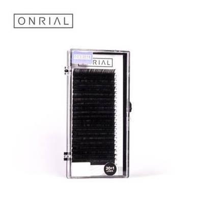 Ресницы ONRIAL, изгиб D 0.10, 10 мм, 21 ряд, фото 2