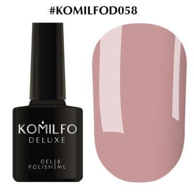 Гель-лак Komilfo Deluxe Series №D058 розовое какао эмаль 8 мл