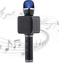 Беспроводной Bluetooth микрофон караоке NBZ Magic Karaoke YS-68 LED 2 динамика с мембраной низких частот Black