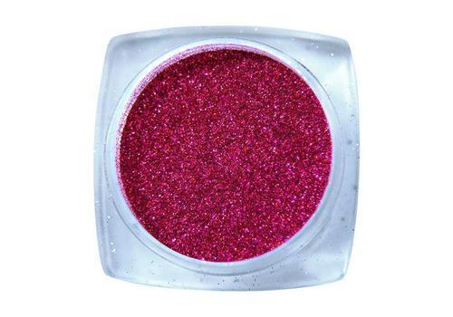 Komilfo блесточки № 005 размер 0,1 мм, малиновые голограмма 2,5