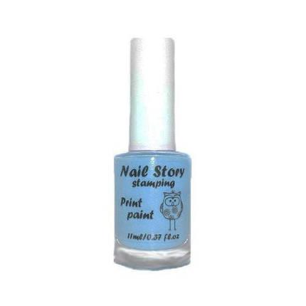 Лак для стемпинг Nail Story № 11 голубой, 11 мл, фото 2