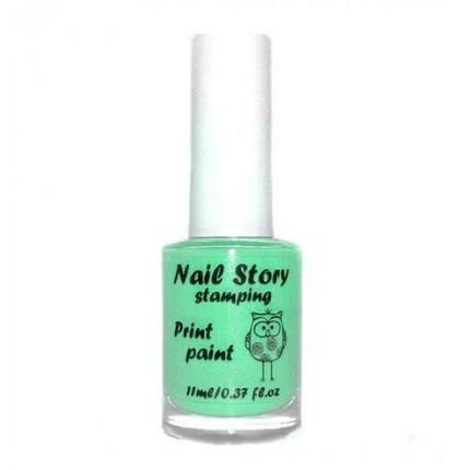 Лак для стемпинг Nail Story № 22 бирюза 11 мл, фото 2