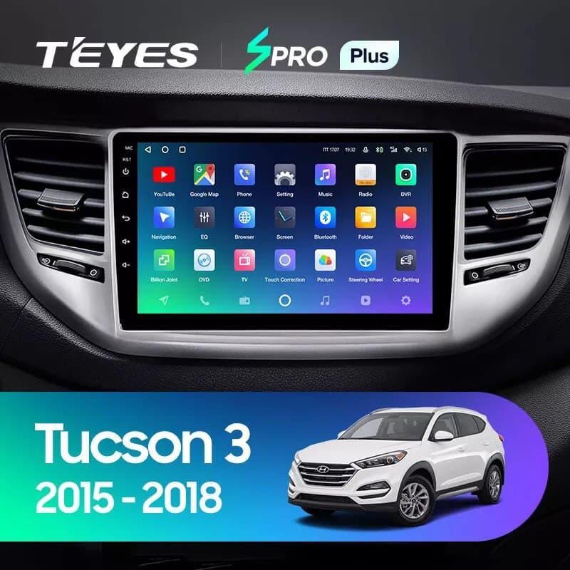 Штатная магнитола TEYES SPRO+ Plus+  Hyundai Tucson 3 2015 - 2018 Android 10 GPS