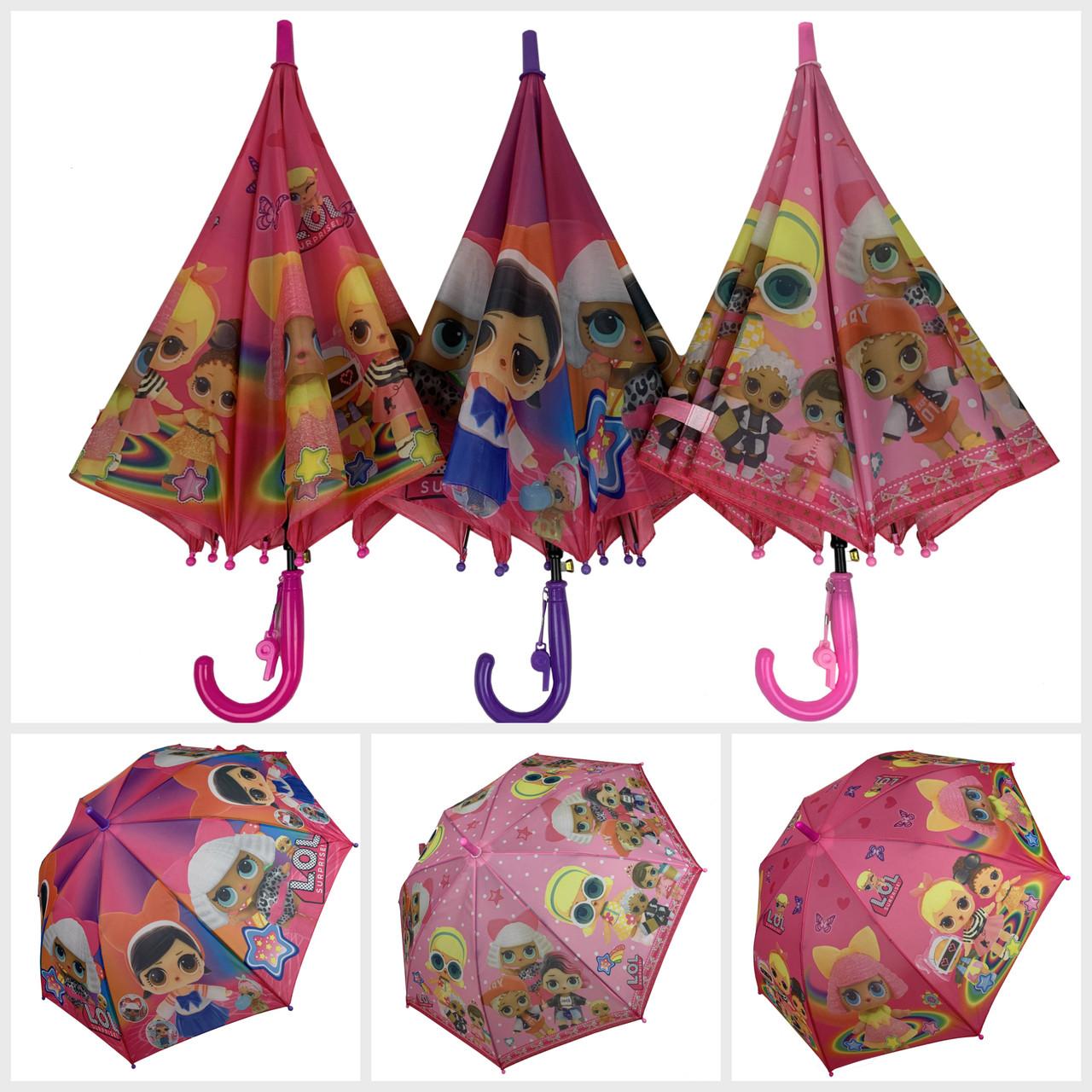 """Детский зонт-трость, полуавтомат """"LOL / ЛОЛ"""" от Paolo Rosi, 077"""