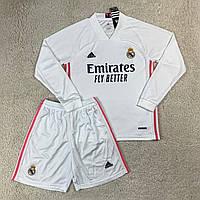 Футбольная форма Реал Мадрид/ RealMadrid football uniform 2020-2021 с длинным рукавом