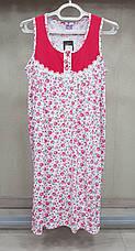 Женская ночная рубашка без рукава на пуговицах 100%хлопок Samo, фото 2