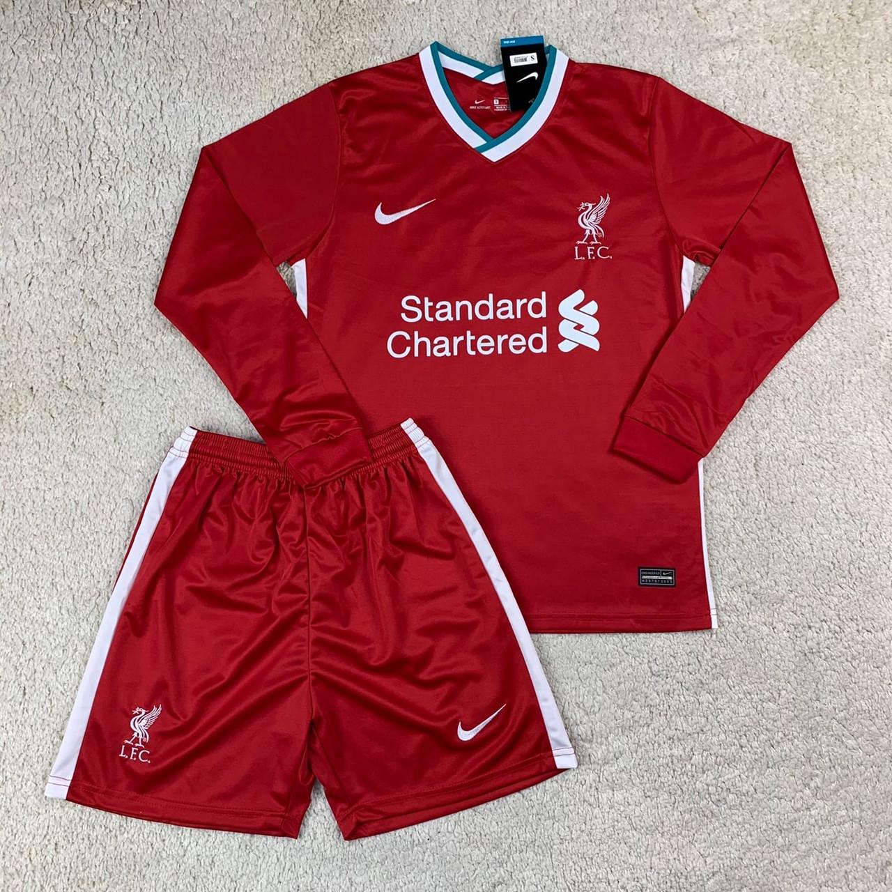Футбольная форма Ливерпуль/ Liverpool  football uniform 2020-2021 с длинным рукавом