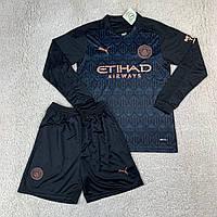 Футбольная форма МанСити/ Manchester City football uniform 2020-2021 с длинным рукавом