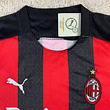 Футбольная форма Милан/ Milan football uniform 2020-2021 с длинным рукавом, фото 4