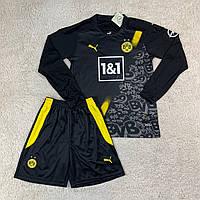 Футбольная форма Боруссия Д/ Borussia Dortmund football uniform 2020-2021 с длинным рукавом