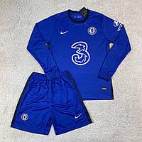 Футбольная форма Челси/ Chelsea football uniform 2020-2021 с длинным рукавом