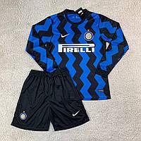 Футбольная форма Интер/ Inter football uniform 2020-2021 с длинным рукавом