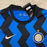 Футбольная форма Интер/ Inter football uniform 2020-2021 с длинным рукавом, фото 2