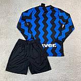 Футбольная форма Интер/ Inter football uniform 2020-2021 с длинным рукавом, фото 3