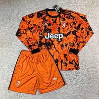 Футбольная форма Ювентус/ Juventus football uniform 2020-2021 с длинным рукавом