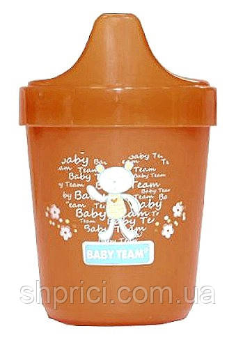 Poil`nik-neprolivajka malen`kij BabyTeam, 100 ml, 6+, art. 5000