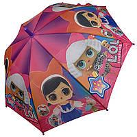 """Детский зонт-трость, полуавтомат """"LOL / ЛОЛ"""" от Paolo Rosi, с фиолетовой ручкой,  077-1, фото 1"""