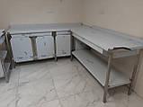 Стіл з бортом і полицею 1700х600х850, фото 8