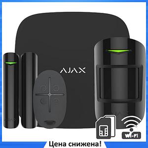 Стартовый комплект системы безопасности Ajax StarterKit Plus Black - Комплект беспроводной сигнализации