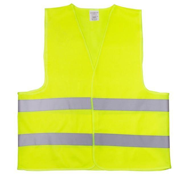 Жилет со светоотр. лентой  (цвет лимон) плотность ткани 80г/м2 состав polyester 100% размер 4ХL (64см)